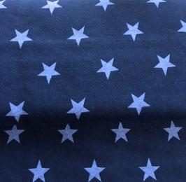 STARS - Sterne-Druck auf Sweatshirt-Stoff Marine / Hellblau