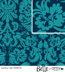 Amy Butler BELLE: Acanthus Teal