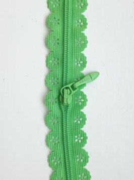 Reißverschluss in Spitzenoptik - Grün