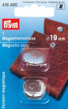 Magnetverschluss 19mm Altmessing