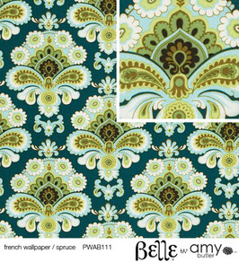 Amy Butler BELLE: French Wallpaper Spruce - Reststück ca. 53 cm