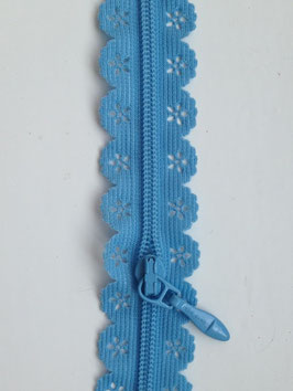 Reißverschluss in Spitzenoptik - Blau