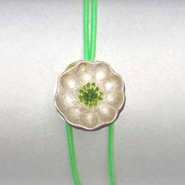 JOJO Armband  SILBERBLÜMCHEN oliv-grün, neon-grün