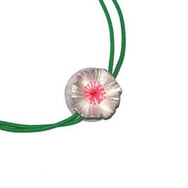 JOJO Halsschmuck   SILBERBLÜMCHEN  pink, grün