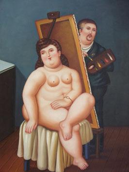 Autoritratto con Modella - Fernando Botero