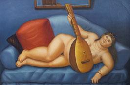 T01277 - Donna con chitarra, F. Botero