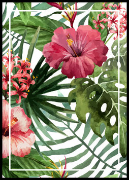 Tropical Floral, Poster