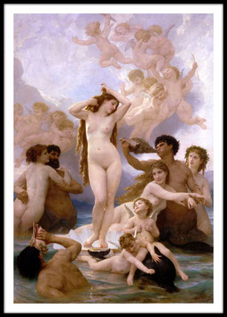 Birth of Venus, 1879 - William-Adolphe Bouguereau, Poster