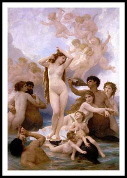 Birth of Venus, 1879 - William-Adolphe Bouguereau, Poster