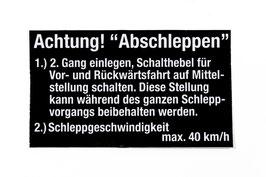 Unimog 403-406-416-421 AUFKLEBER Abschleppen