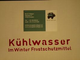 Unimog 411 Aufkleber Kühlwasser Westfalia 303