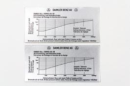 Unimog 403-406-416-421 AUFKLEBER Bremsdruck ALB Einstellung 160
