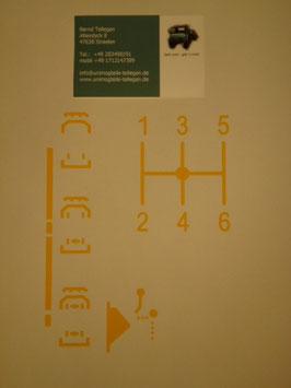 Unimog 411 AufkleberSchaltung 303