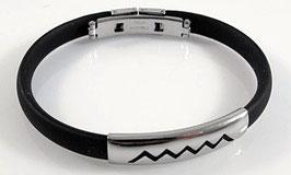 Kautschuk Armband mit Zackenmuster