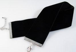 Samt Halsband (36 mm) - extra breit