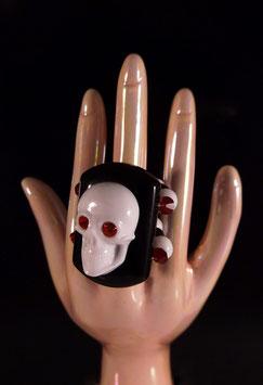 elastischer 3D Skull Ring - UNIKAT