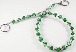 grüne zarte Würfel Hosenkette