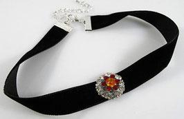 Glamour Glitzer Halsband - Unikat !