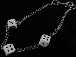 3 Würfel (25 mm) Hosenkette