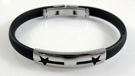 Kautschuk Armband mit Sternmuster