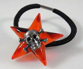 3D Stern Haarband mit versilb.SKULL
