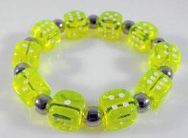 fluoreszendierendes Würfel Armband