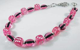 Würfel Hosenkette - pink oder türkis
