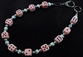 Würfel Hosenkette *Rosa Marmor*