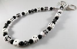 black & white SKULL Hosenkette