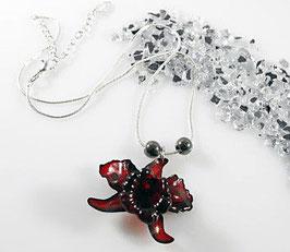 Orchidee Halskette