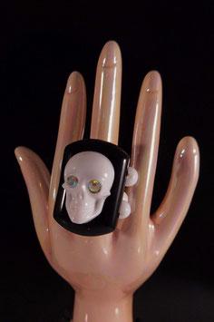 3D Skull Ring - elastisch - UNIKAT