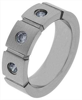 Damen Edelstahl Ring, Gr. 54/56/58