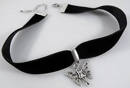 Samt Halsband mit Elfe Anhänger