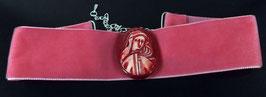 extravagantes Samt Halsband Gemme - pink