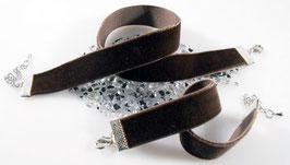 Samt Kombi Set Halsband + Armband