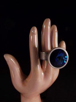blauer Designer Strass Ring