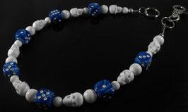 Marmor blau/weiße Hosenkette
