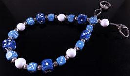 Marmor-blau weiß Hosenkette