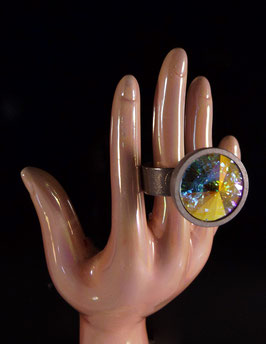 Designer Strass Ring - schimmernd -