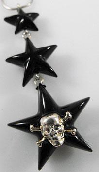 Sterne Halskette mit SKULL - UNIKAT