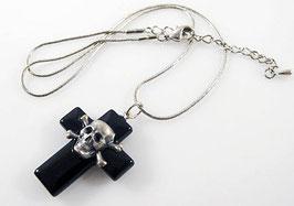 Kreuz Halskette mit Skull