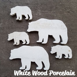 White Wood Porcelain Bear Tiles
