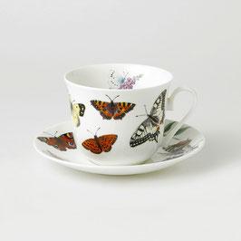 """Roy Kirkham """"Butterfly Garden"""" Tasse und Untertasse,"""
