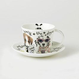 """Roy Kirkham """"Animal Fashion Dog"""" Tasse und Untertasse,"""