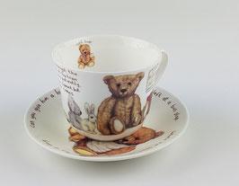 """Roy Kirkham """"Lost Bear"""" Tasse und Untertasse,"""