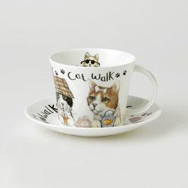 """Roy Kirkham """"Animal Fashion Cat"""" Tasse und Untertasse,"""