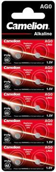 Camelion Uhrenbatterie AG0, Blister 10, 1,5V
