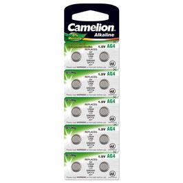 Camelion Uhrenbatterie AG4, Blister 10, 1,5V