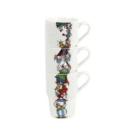 3er Stapelbecher Asterix - The Appletree