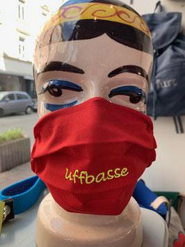 Stoff-Behelfsmaske, bestickt mit extralangem Gummiband zum verstellen
